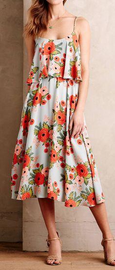 Poppy fields dress
