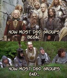 D&D groups before and after.