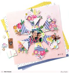 See how a simple gesture of appreciation can inspire your next scrapbook layout! @pinkpaislee @enzam78 #ohmyheart #teacherappreciation #scrapbooking