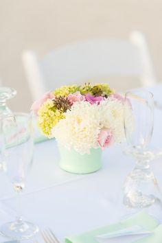 Ocean Pointe Suites Key Largo Weddings Seaglass Centerpieces  Photo By Jannette De Llanos Photography