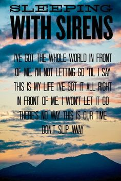 """Let's Cheers to This"" by Sleeping With Sirens"