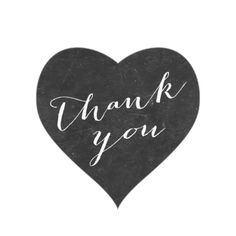 Rustic Chalkboard Thank You Wedding Favor Stickers