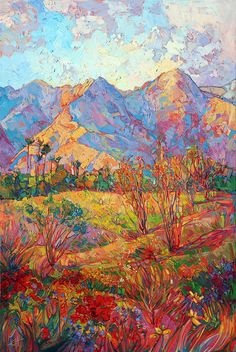 Indian Wells In Bloom Painting