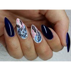 """390 Likes, 8 Comments - Ewelina (@eve_nails1) on Instagram: """"Film jeszcze dziś  #indigo #paznokcie #nails #hybryda #manicurehybrydowy #mani #diamondcosmetics…"""""""