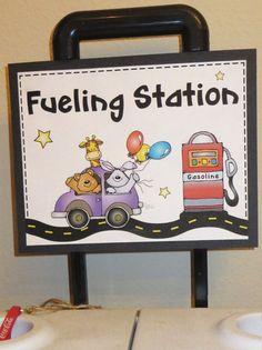 Fueling station, drink station, birthday boy, car party, car clip art, birthday boys signs, speed limit 2, happy birthday boy, cute cars