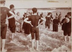 Bathers in Surf, Far Rockaway Beach, Queens, c. 1897 : Photo Gallery : New York City Department of Parks & Recreation : NYC Parks
