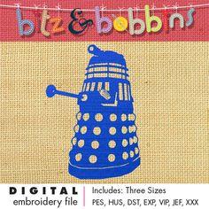 Doctor Who DALEK  Digital Embroidery Design by bitzandbobbins