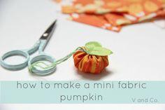 How to Make a Mini Fabric Pumpkin
