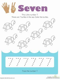 Choose a number 7 worksheet. Number worksheets are good practice for preschool and elementary school kids. Customize your worksheets by changing the . Preschool Workbooks, Preschool Writing, Numbers Preschool, Kindergarten Math Worksheets, Number Worksheets, Learning Numbers, Preschool Printables, Kindergarten Reading, Activities For Kids
