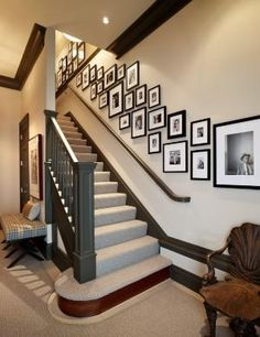 A staircase is a significant portion of a home. Hence, one has to be sure whilst selecting the kind of staircase to use. If you own a staircase or railing in your house or on the porch, it's simple to ensure it is festive. Staircase Wall Decor, Staircase Design, Stairwell Decorating, Stairwell Wall, Staircase Remodel, Basement Stairs, Staircase Diy, Staircase Architecture, Carpet Staircase
