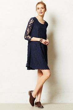 In cream.... Although I might just completely blend in with the dress.  yAmare Dress #anthropologie