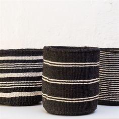 SISAL BLACK/WHITE Basket