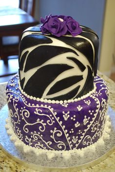 Animal print cake ~ beautiful!