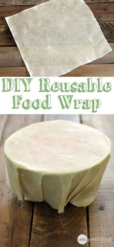 Make your own super simple, eco-friendly, money-saving food wrap.