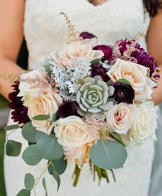 Claudia's gorgeous bridal  @elevatephotography bouquet by Plum Sage Flowers