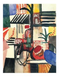 Man And Donkey By August Macke . Truly Art Offers Giclee Unframed Prints on Paper, Canvas Art, and Framed Art in all our Collections. August Macke, Gouache Painting, Famous Artists, Framed Art, Canvas Art, Watercolor, Fine Art, Metal, Artwork