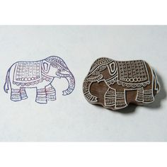 Blockwallah Hand Carved Wood Stamp INDIAN by SeptemberPlayground