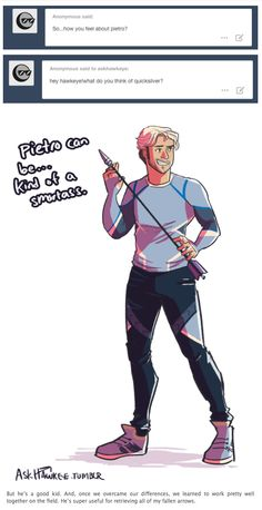 how do you feel about Pietro? || Pietro Maximoff || by AskHawkeye || #fanart