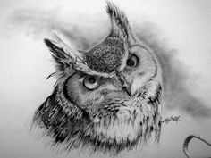 Horned Owl Tattoo Design More