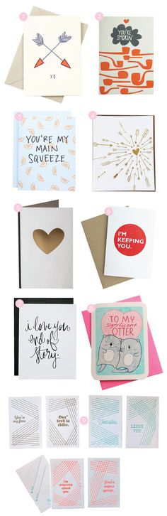 """Happy Cactus Designs' """"You're My Main Squeeze"""" Valentine Card Featured on @Kelly Beall / Design Crush"""
