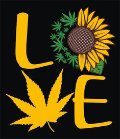 Love pot leaf with sunflower, legalize it, God rolled me that way, support the cause, CBD, thc, SVG by designsbymeandthefam on Etsy Art Hippie, Diy Resin Tray, Stoner Art, Weed Art, Sunflower Wallpaper, Leaf Drawing, Sunflower Art, Dope Art, Chicano Art