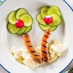 ALDI België - Recept - Gekruide worsten met komkommer en koude aardappelsalade