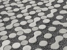 Bloco de encaixe para pavimento exterior LUNIX® Linha Drenagem by FERRARI BK | design Atelier Oï