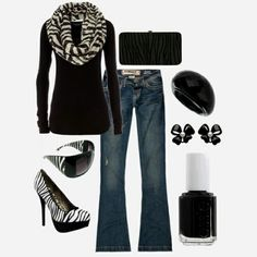 Zebra I would have to throw some red in somewhere! Ooo red lipstick! Must find this outfit!