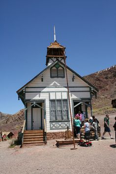 Calico Ghost Town Old Schoolhouse by WestGrove Ed, via Flickr
