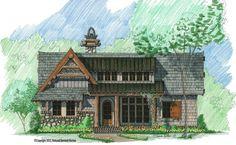 Hoot Camp Front Elevation -- Natural Element Homes