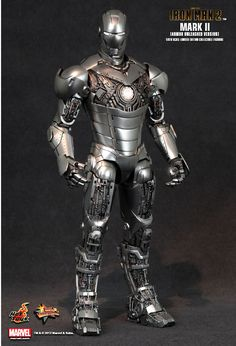 Hot Toys : Iron Man 2 - Mark II (Armor Unleashed Version) 1/6th scale Limited Edition Collectible Figurine