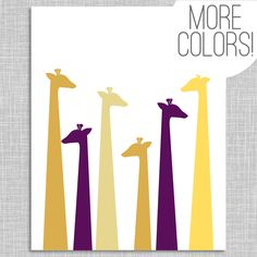 Giraffe Nursery Art Print / Nursery Wall Art by HighburyPlace - Modern Playroom Design, Nursery Design, Baby Design, Giraffe Nursery, Nursery Wall Art, Custom Art, Art Prints, Baby Mine, Giraffes