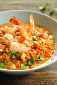 spicy coconut risotto with lime shrimp   foxes love lemons - recipes, food, cooking tips, detroit restaurant reviews and more!