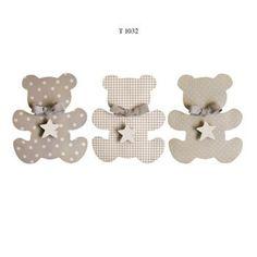Trio ourson mignon porte photo Mixte.Fabrication française, peint à la main.