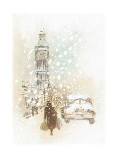 Ray Shuell - London Christmas Snow Car