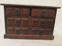 For Sale Now at Our Ebay Store for Only $34.99!  Vintage Price Import Japan Wood Musical Jewelry Box Dresser 4 Drawers