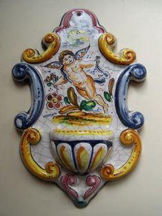 ENRIQUE SAN ANTONIO - artesano Water Font, Talavera Pottery, Hand Painted Ceramics, Cherub, Terracotta, Art Nouveau, Fountain, Arts And Crafts, The Incredibles