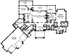 Main Level 413 109 Change Angle of Garages House Plans