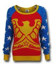 Wonder Woman Star Sleeve Sweater