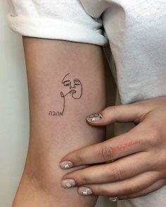 single line tattoo information & ideas 21 Line Art Tattoos, Body Art Tattoos, Cool Tattoos, Awesome Tattoos, Tatoos, Creative Tattoos, Sexy Tattoos, Bts Tattoos, Tattoo Art