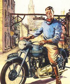 Vintage Triumph Ad
