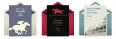 Free invitation designs for a Kentucky Derby party.