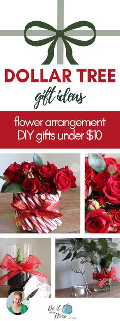 Super diy wedding ideas on a budget dollar stores flower arrangements 32 ideas - Christmas Flower Arrangements, Flower Arrangements Simple, Floral Arrangement, Dollar Tree Christmas, Christmas On A Budget, Christmas Decor, Christmas Gifts, Easy Paper Flowers, Diy Flowers