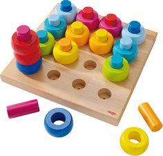 e70707ea9 Farebné krúžky - veselá zastrkovacia hra nádherných farieb pre deti od 2  rokov. Spiele Für