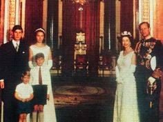 Members of Royal family in the 1960s, from left is Prince Charles with Prince Edward, Princess Anne, Prince Andrew, Queen Elizabeth II and Prince Philip, the Duke of Edinburgh.