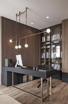 24 Home Office Ideas That Will Keep You Motivated All Day! Modern Office Design, Office Interior Design, Home Office Decor, Office Interiors, Kitchen Interior, Office Ideas, Home Decor, Kitchen Design, Art Interiors
