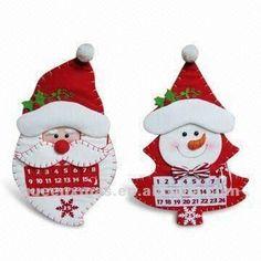 santa mueco de nieve de diseo de la tela de navidad calendario de