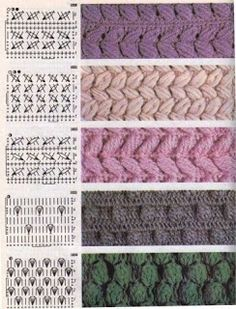 szalony szydełka dziania If you can read international crochet charts, you can add these warm textured stitches to your crochet repertoire. Free Crochet Stitches from Daisy Farm Crafts This Pin was discovered by Мар Image gallery – Page 786300416169 Crochet Symbols, Crochet Motifs, Crochet Diagram, Crochet Stitches Patterns, Crochet Chart, Knitting Stitches, Stitch Patterns, Knitting Patterns, Knitting Charts