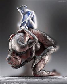 The art works of digital visual artist Adam Martinakis Dark Fantasy Art, Amazing Gifs, Amazing Art, Blind Artist, Beautiful Dark Art, Object Drawing, Psy Art, Human Art, Horror Art
