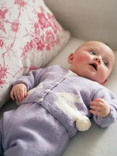 Bunny Cardigan and leggings.free pattern knitted in 4ply yarn More
